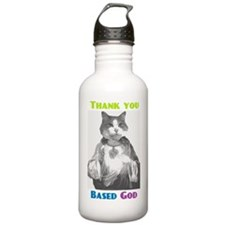 Based Cat Sports Water Bottle
