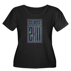 """Class of 2K11"" Women's Plus Size Scoop Neck Dark"