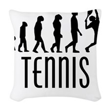 Tennis Evolution Woven Throw Pillow