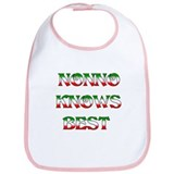 Nonno Knows Best Bib