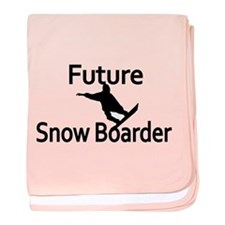 Future Snow Boarder Baby Blanket