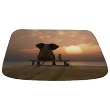 Elephant And Dog Friends Bathmat