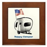 Happy Camper USA Framed Tile