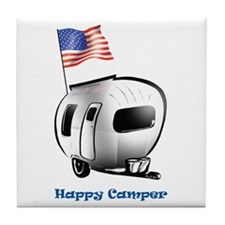 Happy Camper USA Tile Coaster