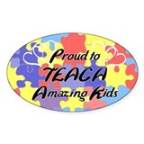 Proud to Teach Kids Oval Decal