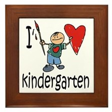 Boy I Love Kindergarten Framed Tile