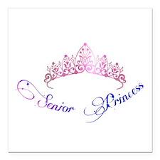 """Senior Princess Square Car Magnet 3"""" x 3"""""""
