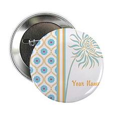 "Stylish Floral Design 2.25"" Button"