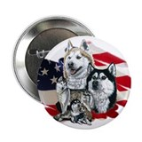 America flag Husky Button