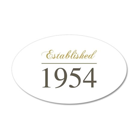 Established 1954 35x21 Oval Wall Decal