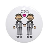 Gay Wedding Grooms Ornament (Round)