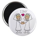 Lesbian Wedding I Do Magnet