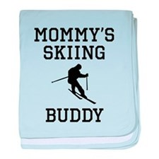 Mommys Skiing Buddy baby blanket