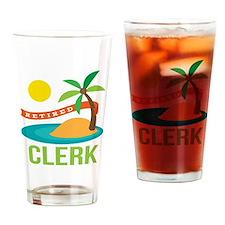 Retired Clerk Drinking Glass