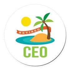Retired CEO Round Car Magnet