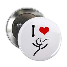 "I love Rhythmic Gymnastics! 2.25"" Button (10 pack)"