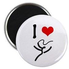 "I love Rhythmic Gymnastics! 2.25"" Magnet (10 pack)"