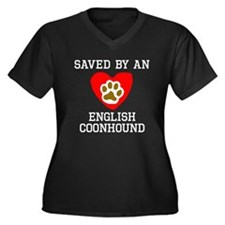 Saved By An English Coonhound Plus Size T-Shirt