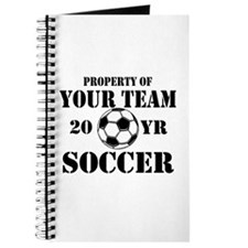 Personalized Property of Your Team Soccer Journal