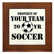 Personalized Property of Your Team Soccer Framed T