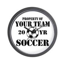 Personalized Property of Your Team Soccer Wall Clo