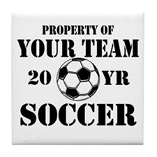 Personalized Property of Your Team Soccer Tile Coa