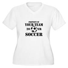 Personalized Property of Your Team Soccer Plus Siz