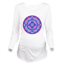 Color Mandala Long Sleeve Maternity T-Shirt