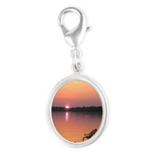 Lake Winnipesaukee Silver Oval Charm