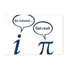 Be Rational Get Real Imaginary Math Pi Postcards (