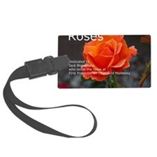Rose Calendar Cover Image Luggage Tag
