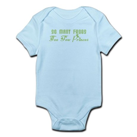 So Many Frogs Too Few Princes Infant Bodysuit