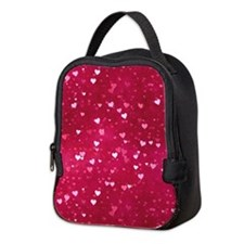 Bokeh Little Hearts Neoprene Lunch Bag