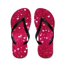 Bokeh Little Hearts Flip Flops
