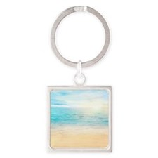 Beautiful Beach Square Keychain
