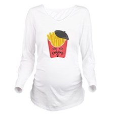 Le French Fries from France Long Sleeve Maternity