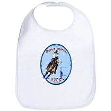 Barrel Horses Rock Oval Trans Bib