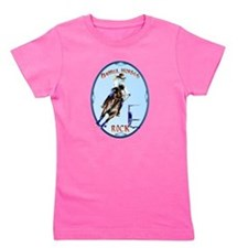Barrel Horses Rock Oval Trans Girl's Tee