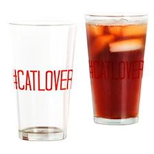 #CatLover Drinking Glass