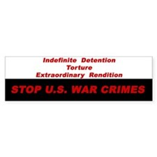 War Crimes Bumper Bumper Sticker