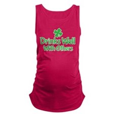Drinks Well With Others Maternity Tank Top