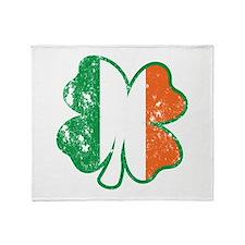 Irish Flag Clover Throw Blanket