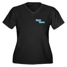 Flight Nurse Women's Plus Size V-Neck Dark T-S
