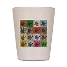 Pot Leaf Patchwork Shot Glass
