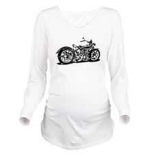 Vintage Motorcycle Long Sleeve Maternity T-Shirt