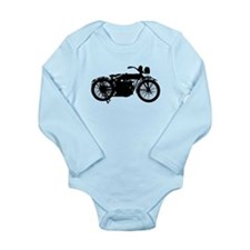 Vintage Motorcycle Silhouette Body Suit