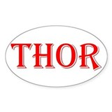 The Thor One Store Oval Decal