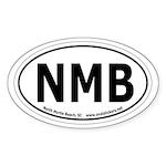 North Myrtle Beach, SC Oval Car Sticker