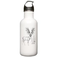 Let life Grow white Water Bottle