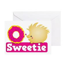 Sweetie little hedgehog Greeting Card
